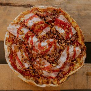 Pizza Barbacoa Classic   Pizzería Ses Estacions, pizzas a domicilio en Palma de Mallorca