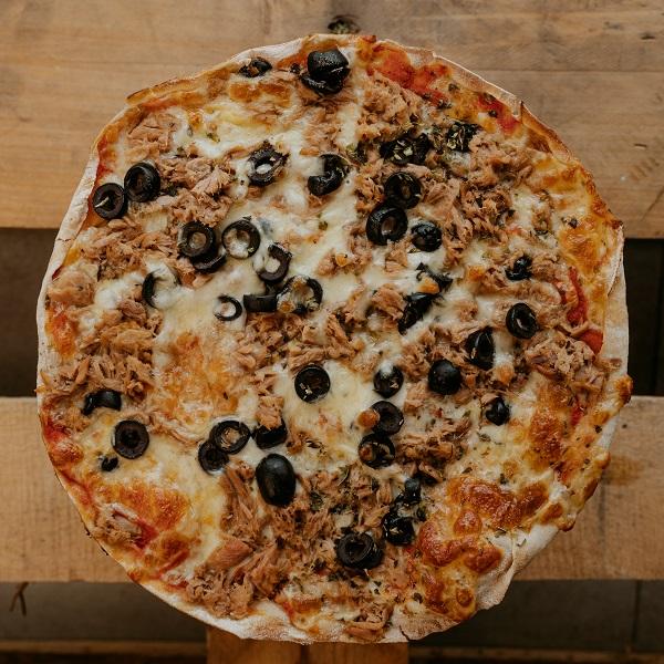 Pizza Atún | Pizzería Ses Estacions, pizzas a domicilio en Palma de Mallorca