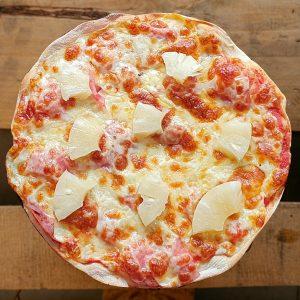 Pizza Hawaiana   Pizzería Ses Estacions, pizzas a domicilio en Palma de Mallorca