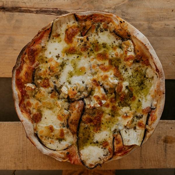 Pizza Mediterránea | Pizzería Ses Estacions, pizzas a domicilio en Palma de Mallorca